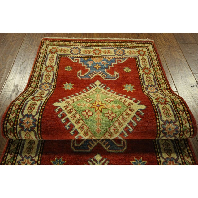 "Shirvan Red Kazak Runner Rug - 2'8"" x 9'6"" - Image 9 of 10"