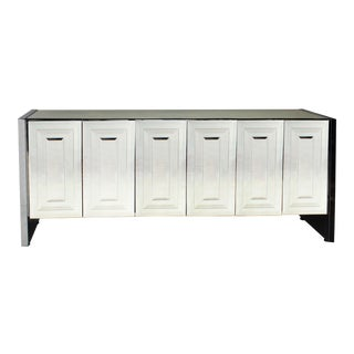 Ello 6 Door Mirrored Credenza For Sale