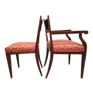 1950s Edwardian Era Russian Double-Headed Eagle Chairs - a Pair For Sale