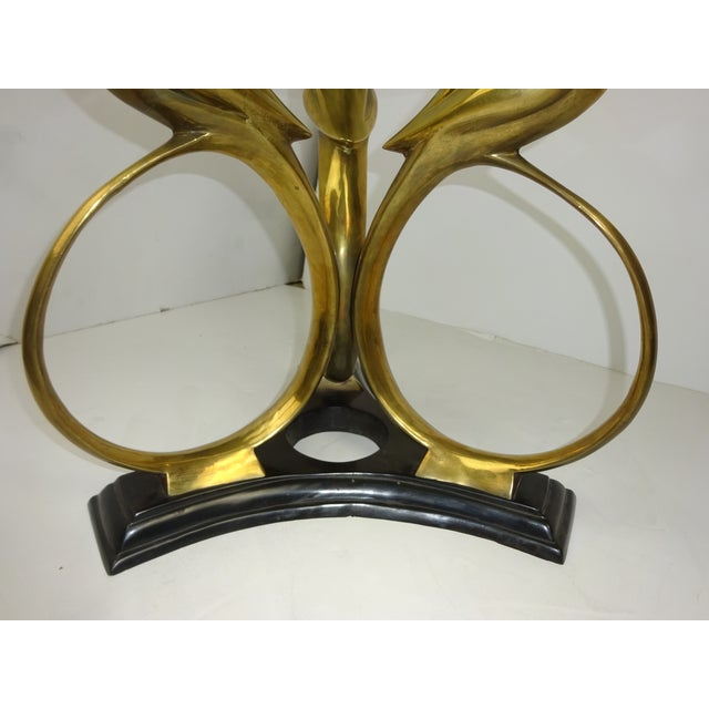 Art Deco Revival Brass Parrot Table For Sale - Image 7 of 8