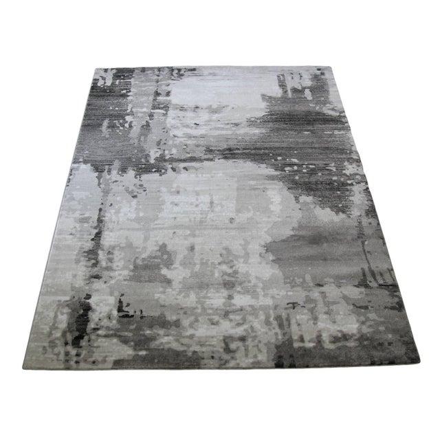 """Modern Gray Abstract Rug - 6'7""""x 9'7"""" - Image 4 of 4"""