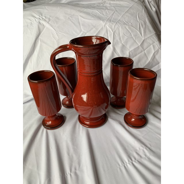 1970s French Orange Flambé Glaze Pottery by Pol Chambost For Sale - Image 13 of 13