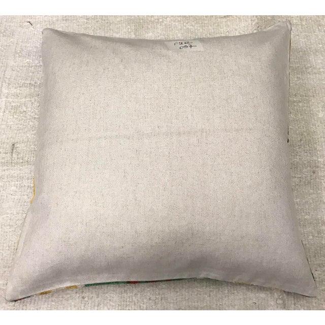 Silk Uzbek Ikat Velvet Hand Made Square Pillow Cushion with natural linen backing and hidden zipper. 10/90 down feather...