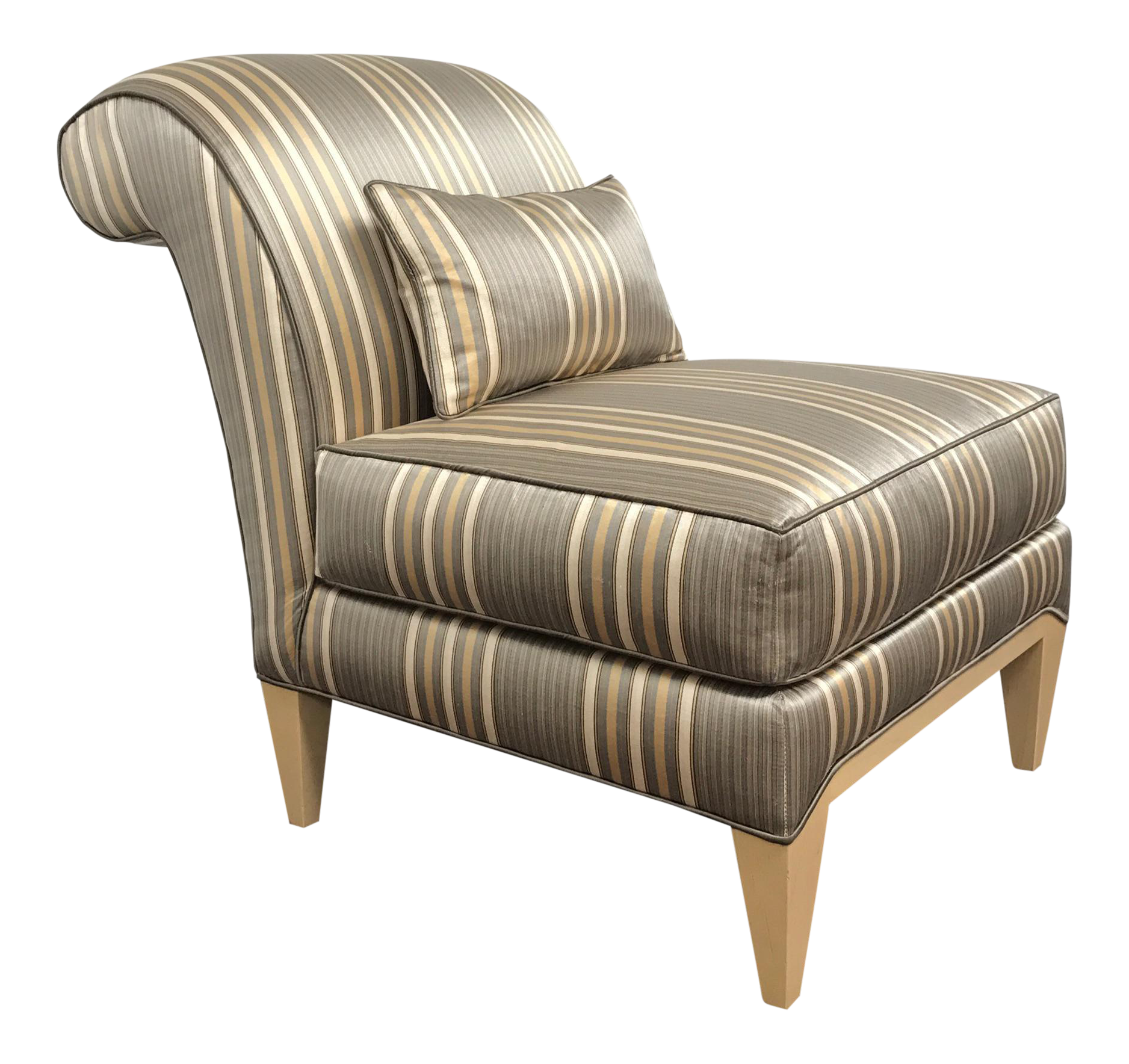Vintage Amp Used Striped Accent Chairs Chairish