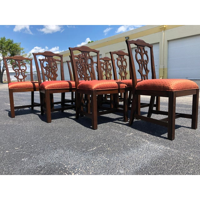 Chippendale Style Dining Chairs - Set of 10 For Sale - Image 10 of 13