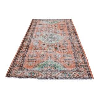 Modern Turkish Oushak Handwoven Tree of Life Wool Floral Rug