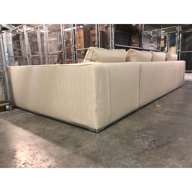 Modern Maxalto Omnia Sectional Sofa-Extra Long For Sale - Image 3 of 13