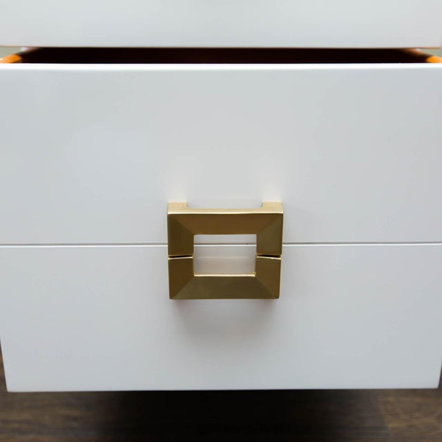 Mid-Century Lacquered Nightstands - A Pair - Image 7 of 10