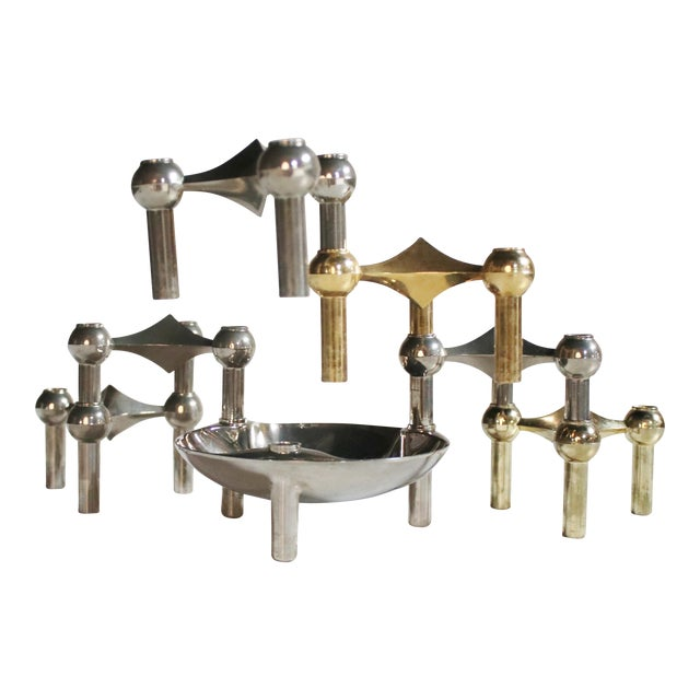 Caesar Stoffi Modular Candle Holders and Bowl by Nagel - Image 1 of 6