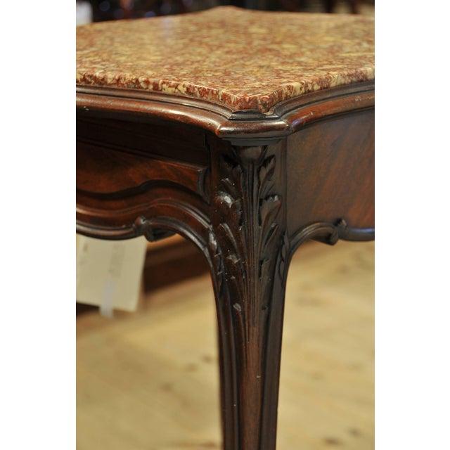Vintage French Marble Top Stand For Sale - Image 4 of 7
