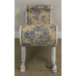Custom Quality Swedish Rococo Style Pair Cerule Benches Preview
