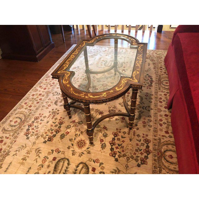 Late 20th Century Francesco Molon Coffee Table by Gimme Furniture Co. Finely Inlaid For Sale - Image 5 of 11