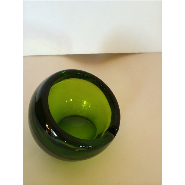 Viking Glass Tilted Orb Ashtrays - A Pair - Image 3 of 6