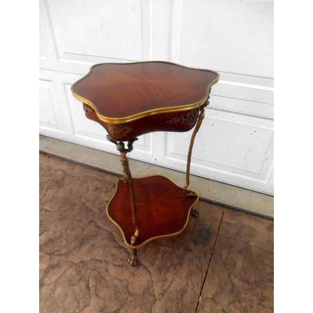 French Nwt Vintage French Louis XVI Rococo Style Accent Table For Sale - Image 3 of 9