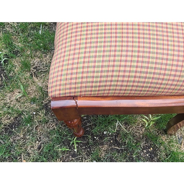 20th Century Reproduction Mahogany Empire Style Dining Room Chairs - Set of 6 For Sale - Image 10 of 13