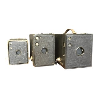 Vintage Box Cameras - Set of 3