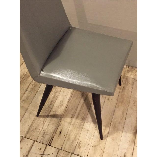 Vintage 1960s Mod Wood & Vinyl Chairs - 4 - Image 7 of 8