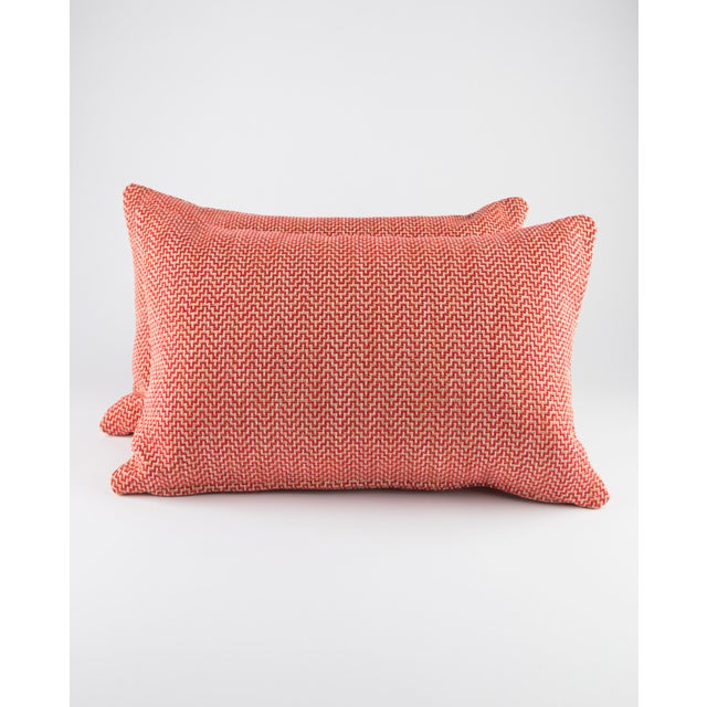 """White 22"""" X 14"""" Schumacher Orwell Down Pillows For Sale - Image 8 of 8"""