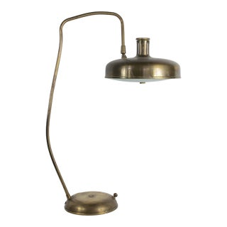 1960s Mid-Century Modern Italian Brass Desk Lamp For Sale