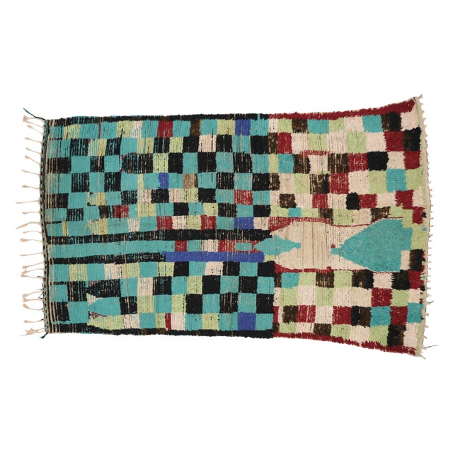 Boho Chic Vintage Berber Moroccan Rug with Modern Tribal Style, 04'05 x 07'06 - Image 8 of 9