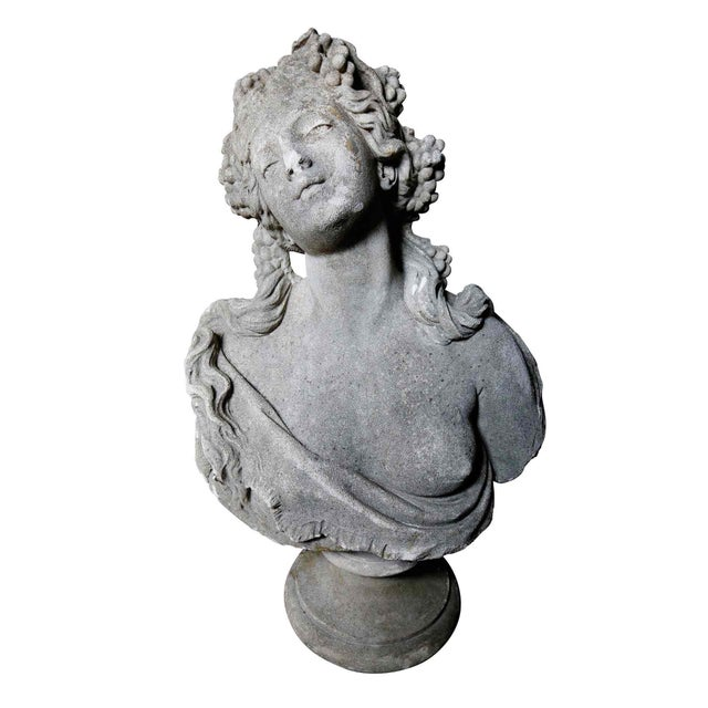 Traditional Classical Bust - Cast Stone For Sale - Image 3 of 7