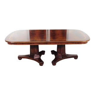 Empire Henredon Historic Flame Mahogany Dining Table For Sale