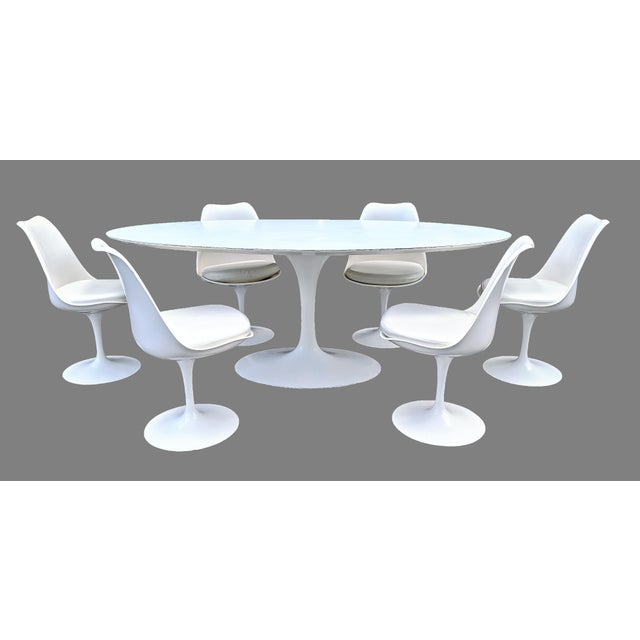 1980s Vintage Eero Saarinen for Knoll Tulip Dining Set - 7 Pieces For Sale - Image 5 of 13