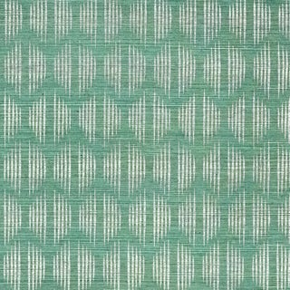 Schumacher Ovington Sisal Wallpaper in Mineral For Sale