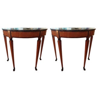 19th Century Italian Neoclassical Style Console Tables - a Pair For Sale