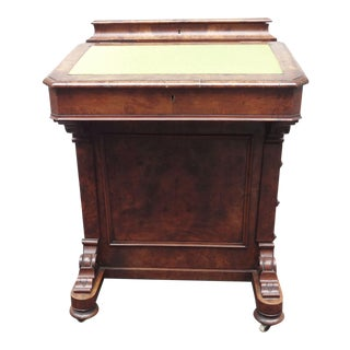 English Walnut Davenport Desk