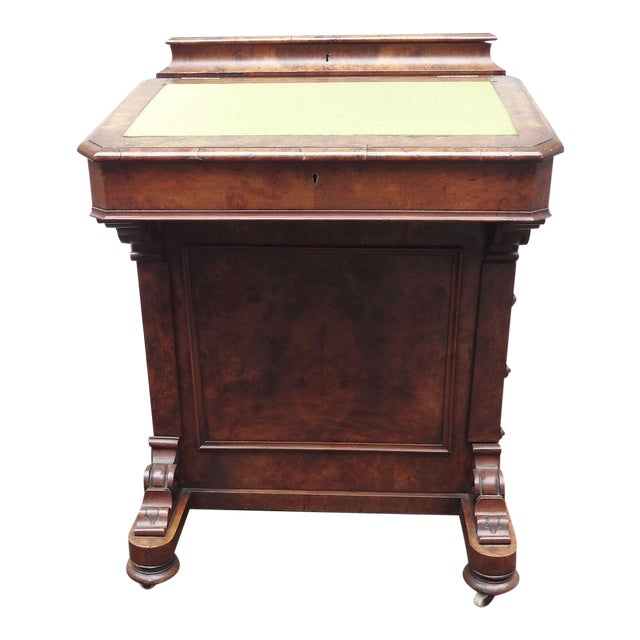 English Walnut Davenport Desk For Sale