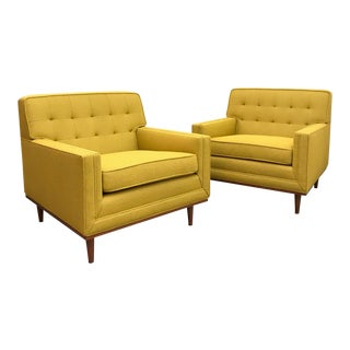 Mid Century Modern Club Chairs- A Pair For Sale