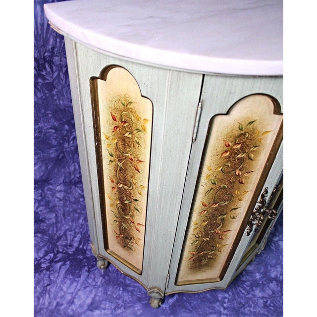 Marble Portuguese Marble Top Cabinet For Sale - Image 7 of 12