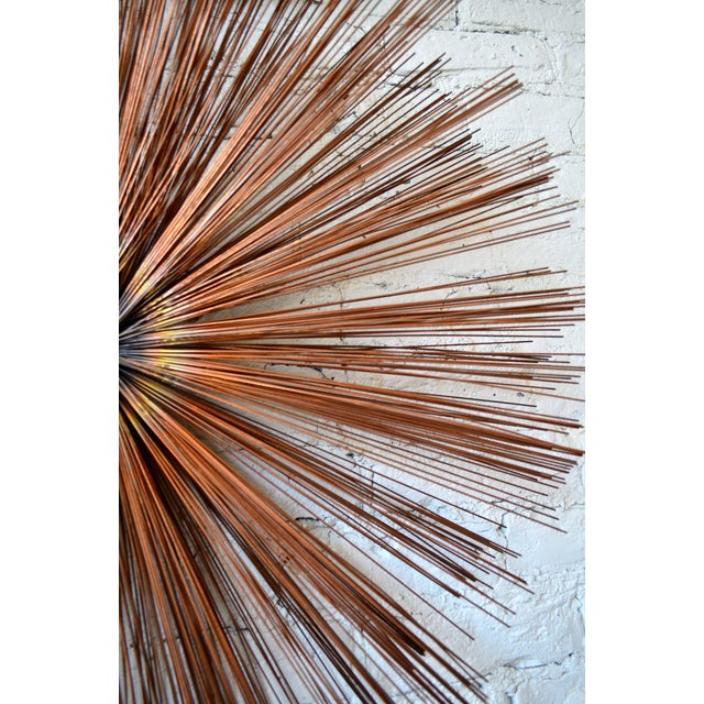 Mid-Century Modern Starburst Wall Sculpture For Sale - Image 3 of 6