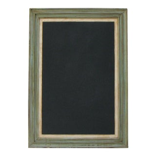 1960s Chalkboard in Painted Frame For Sale