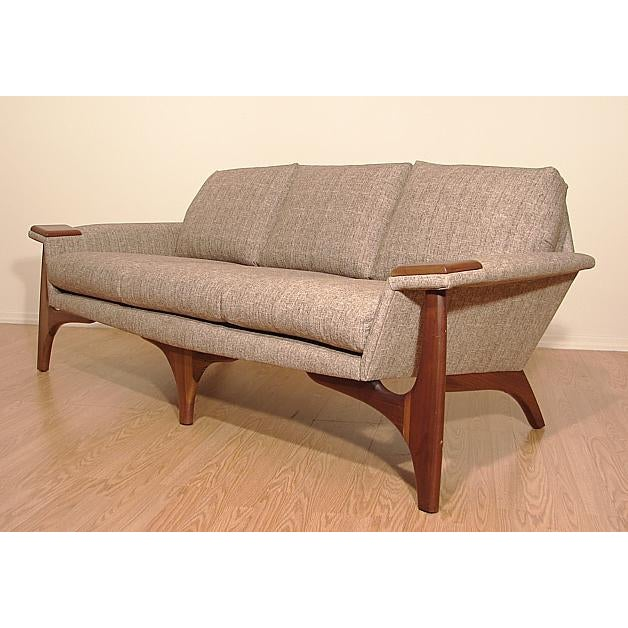 1960s Adrian Pearsall Craft Associates Mid-Century Danish Modern Sofa - Image 3 of 9