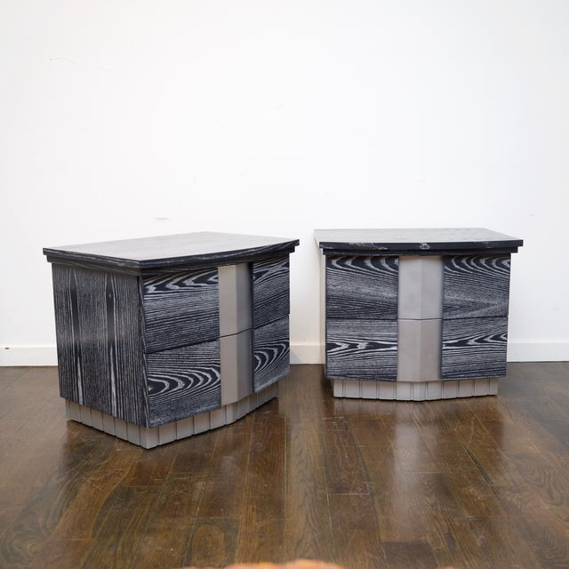 Pair of Cerused End Tables/Night Tables For Sale - Image 10 of 11