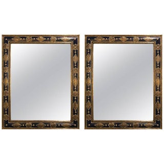 Moroccan Moorish Style Blue Mirrors - a Pair