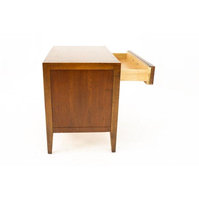 Wood Drexel Mid Century Walnut Nightstand For Sale - Image 7 of 13