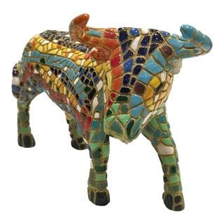 Contemporary Mosaic Gaudi Trencadis Bull