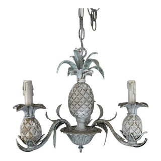 Wood and Resin Pineapple Chandelier For Sale