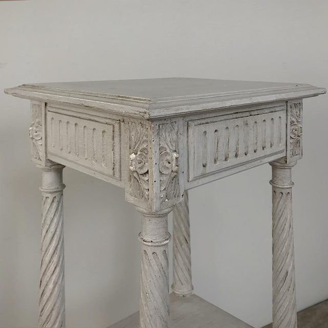 19th Century French Louis XVI Painted Pedestal For Sale In Dallas - Image 6 of 13