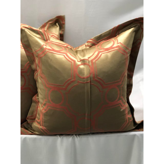 Pair of Jim Thompson Flange Edge Pillows For Sale In Atlanta - Image 6 of 8