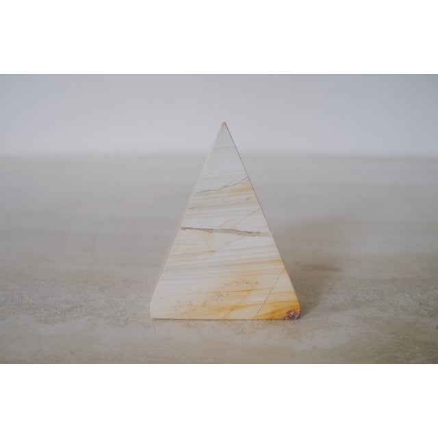Vintage Marble Pyramid Clock For Sale - Image 4 of 7
