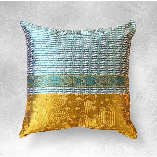 Brand New Golden Ganesh Javanese Boho Pillow - Image 2 of 7