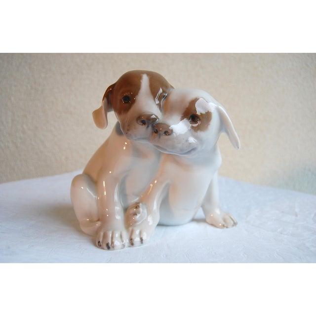 Ceramic Royal Copenhagen Denmark, Porcelain Pointer Puppies Dog Figurine, 1889-1922 For Sale - Image 7 of 7