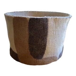 Felted Wool Basket For Sale