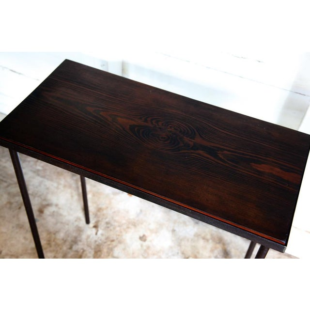 2010s Mid-Century Modern Hand-Bag Entry Table For Sale - Image 5 of 12