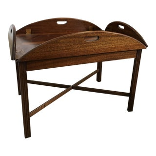 1940s Campaign Style Mahogany Side Table