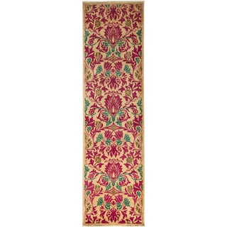 """Arts & Crafts Hand Knotted Runner - 2'9"""" X 9'8"""" For Sale"""